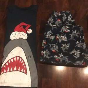 Boys Santa Jaws Pajamas Size 10/12